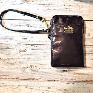 {Coach} Purple Patent Leather Wristlet